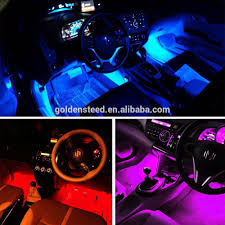 Led Strip For Car Interior Car Led Strip Light Surlight 4pcs 48 Led Dc 12v Multicolor Music