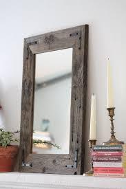 wood framed small mirror small wood framed mirror wall mirror reclaimed