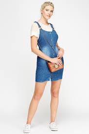 pinafore denim mini dress just 5