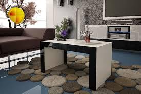 High Gloss Side Table Modern Design High Gloss Coffee Table Black White Side Unit