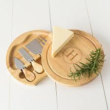 personalized cheese board set personalized rubberwood 5 gourmet cheese board set free
