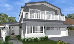 architect design 3d concept gambrel house balgowlah