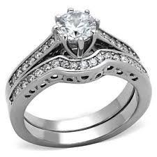 Stainless Steel Wedding Rings by Stainless Steel Wedding Ring Set Ebay