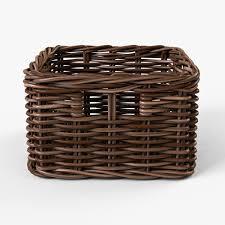 Cane Laundry Hamper by Wicker Basket Ikea Byholma 1 Brown By Markelos 3docean