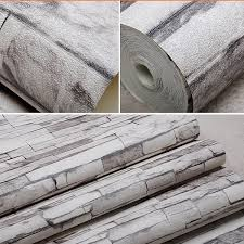 3d Wallpaper For Living Room by 10m Roll Wood Blocks Brick Stone Vinyl Background 3d Wallpaper