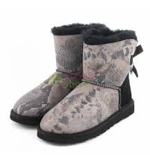 ugg mini bailey bow on sale boots ugg australia mini bailey bow snake black 1005534 blk