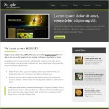 free simple template free website templates for free download