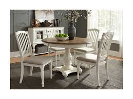 Liberty Furniture Dining Table by Liberty Furniture Cumberland Creek Dining 5 Piece Pedestal Table