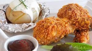 comment cuisiner des pilons de poulet pilon de poulet pané à l américaine cuisson au four et pommes de