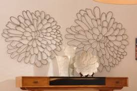 Metal Flower Wall Decor - wall art ideas design floral ceramic in metal flowers wall art