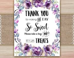 Wedding Buffet Signs by Candy Table Etsy