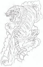 japanese tiger sketch productos que adoro tiger