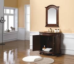 Wooden Bathroom Mirror Brown Wood Bathroom Mirrors Bath The Home Depot Intended For