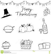 happy thanksgiving element in doodle stock vector image 74314751