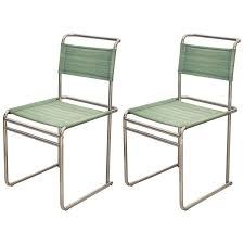 pair of mid century modern marcel breuer chrome wassily chair