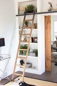 Rolling Ladder Bookcase by Furniture Home 34 Surprising Bookcase With Ladder And Rail