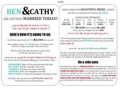 Printable Wedding Programs Free 10 Creative Wedding Program Ideas Fantabulously Frugal In Nyc