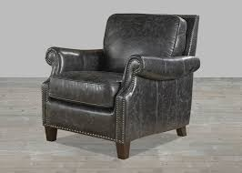 Vintage Leather Recliner Charcoal Leather Nathan Collection Vintage Chair