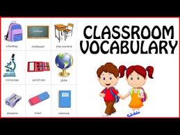things in classroom classroom vocabulary for kids basic