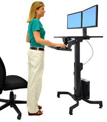 Standing Desk Ergotron Ergotron 24 280 926 Workfit Pd Adjustable Standing Desk