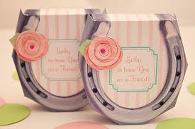 horseshoe party favors shabby chic horseshoe favor box diy printable pdf instant
