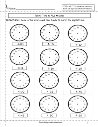Grade 7 Worksheets Ccss 2 Md 7 Worksheets Telling Time To Five Minutes Worksheets
