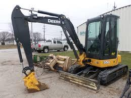 john deere 35d compact excavator tri green tractor in flora