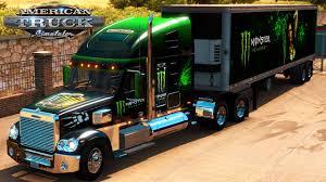 american truck simulator monster energy freightliner coronado
