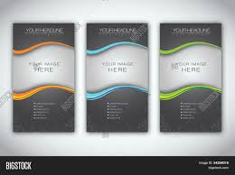 Plain Brochure Template by Set Blank Brochure Template Vector Photo Bigstock