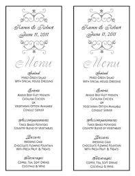 menu template wedding wedding menu template wedding menu template 8