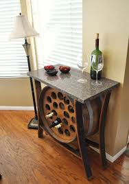 Dining Room Table With Wine Rack 8 Stunning Uses For Wine Barrels