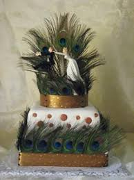 Peacock Themed Wedding Peacock Themed Wedding Cake