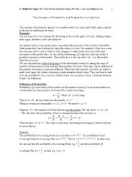 concept of probability and probability distribution normal