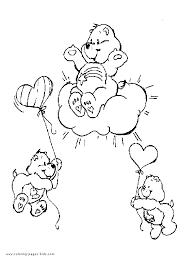 care bears colouring sheet care bears