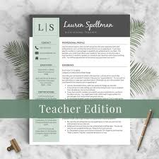 Examples Of Resumes For Teachers by Teacher Resume Template For Word And Pages Instant Download