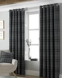 Heavy Grey Curtains Superb Heavy Weight Tartan Plaid Grey Eyelet Heading Curtains 6