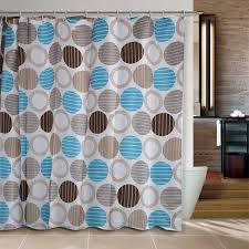 brown and blue shower curtain home design ideas and pictures