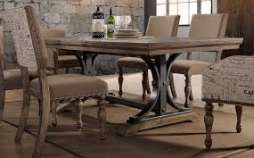 driftwood dining room table driftwood 5 piece dining set with script chairs metropolitan