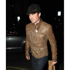 genuine leather motorcycle jacket ian somerhalder leather jacket distressed brown motorcycle jacket