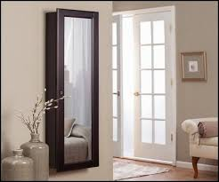 Wall Mirror Jewelry Storage Furniture You Can Close Jewelry Armoire With Full Length Mirror