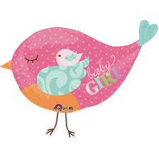 bird baby shower baby girl bird supershape foil balloon at balloon smart