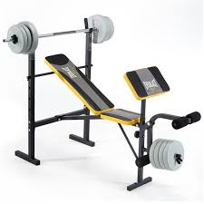 exercise bench with 30kg weights bench decoration