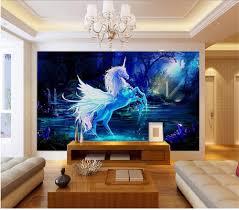 online get cheap unicorns wall paper aliexpress com alibaba group 3d wallpaper custom photo wall paper fairy unicorn mural tv sofa