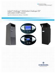 emerson liebert challenger with liebert icom control 3000 itr user