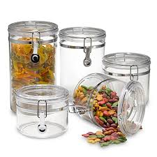 what to put in kitchen canisters oggi acrylic 5 canister set bed bath beyond