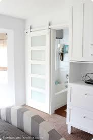 Barn Style Interior Sliding Doors Frosted Glass Sliding Barn Door I93 In Easylovely Home Design