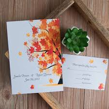 fall wedding invitations new released fall wedding invitations for autumn brides 2015