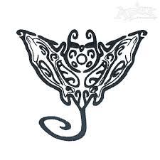 tribal stingray embroidery design