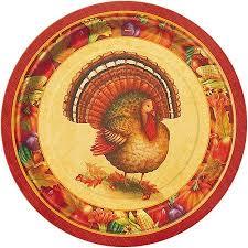 9 festive turkey thanksgiving dinner plates 8ct walmart