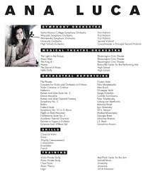 Musical Theater Resume Template Musician Resume Examples Musician Resumemusical Resume Music
